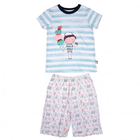 pyjama-garcon-manches-courtes-marin-kid